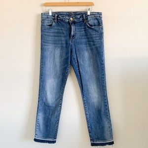 KUT FROM THE CLOTH Distressed Mid Rise Jeans